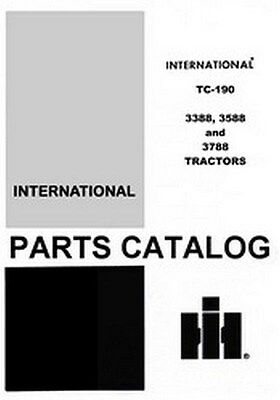 International Farmall 3388 3588 3788 Tractor Parts Catalog Manual