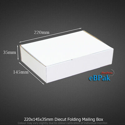 200x Mailing Box 220x145x35mm for DVD CD MAILER Video DVD Bx6 Size