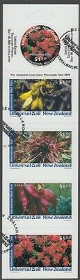 New Zealand Universal Mail Booklet Used Flowers