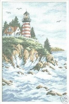 Cross Stitch Chart - Dimensions - Land's End (Lighthouse)