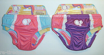 Op. - SWIM DIAPER – BOTTOMS - PINK or PURPLE – GIRLS – INFANT – SIZE 6 MO – NWT