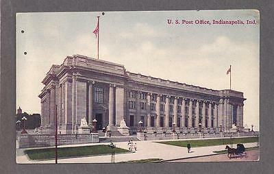 U.S. Post Office, Indianapolis, In. about 1910 used postcard