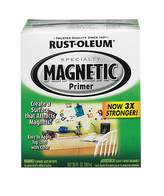 1qt Rustoleum Magnetic Interior Primer Paint 30oz Surface Attracts Magnets