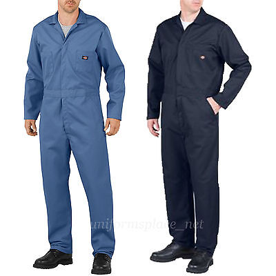 Dickies COVERALLS Mens Long Sleeve Mechanic Coveralls 4861/48611 Blue Navy