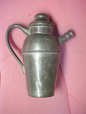 "Vintage Federal Solid Pewter teapot coffee pot?  Cool! Some dings 8.5"" H x 4 dia"