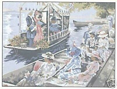 Boating Tapestry Needlepoint Canvas DMC