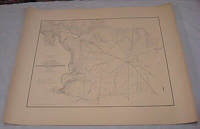 """c1877 Large Map TITUSVILLE-PLEASANTVILLE, PA/2nd PA Geological Survey/26x32"""""""