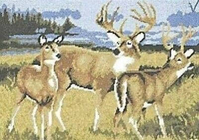 """Deer In The Meadow Tapestry/Needlepoint Canvas  - DMC - 19"""" x 15"""""""