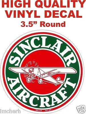 Vintage Style HC Sinclair Aircraft Gasoline Fuel Motor Gas Pump Decal The Best!