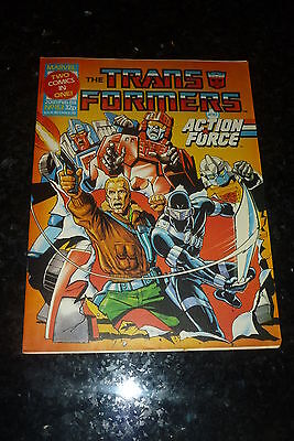 Date 05//03//1988 Marvel Comic The TRANSFORMERS /& ACTION FORCE Comic No 155