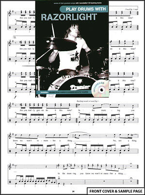 Play Drums with Razorlight Drum Music Book +CD NEW