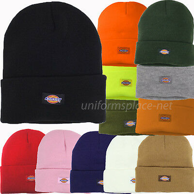 "Dickies Beanie Unisex Mens 14"" Cuffed Knit Beanie Hat Double Layered Winter Cap"