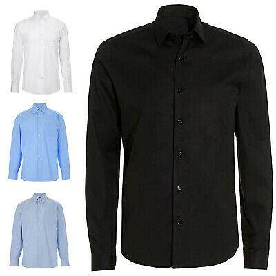 Mens Long Sleeve Premium Formal Oxford Shirt for BUSINESS OFFICE & CASUAL 701