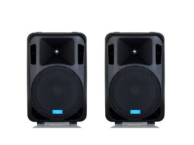 CASSE AMPLIFICATE ATTIVE 12 32 CM1600 WATT DJ LIVE MPE AUDIO MADE IN ITALY 126Db