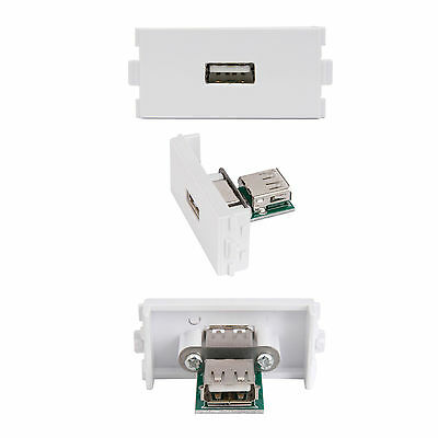Usb Type A Female Socket Module/modular Wall Face Plate Outlet