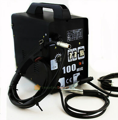 Mig-100 Flux Core Welding Machine No Gas Welder + Face Mask 110V Cooling Fan
