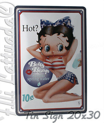 Metal Card Targa Metallica Betty Boop Hot? 20x30