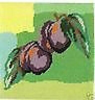 """Plums Tapestry / Needlepoint Canvas DMC C13N-32 - 7.75"""" x 7.75"""""""