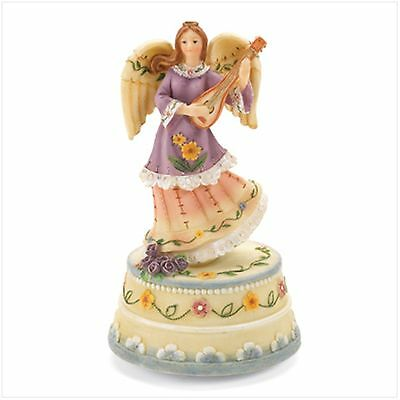 "Angel Music Figurine, Polyresin, 4"" diameter x 7"" high"