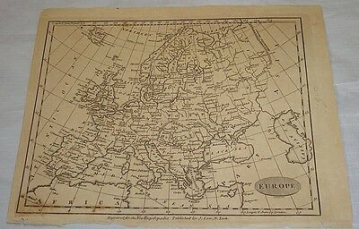 1799 MAP of EUROPE/Low's New Encyclopedia/Wove Paper