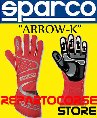 "Guanti Sparco Kart ""arrow Kg-7"" Rosso Adulto -  002532"