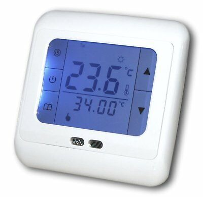 digital programmierbar thermostat unterputz heizung. Black Bedroom Furniture Sets. Home Design Ideas
