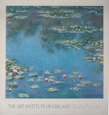Waterlillies Vintage poster print by Claude Monet cms 63 x cms 60