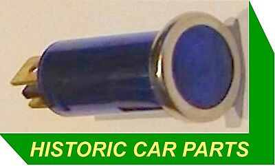 BLUE Panel WARNING LIGHT Main/Hi Beam On, Lights On etc. for 1950-70s vehicles