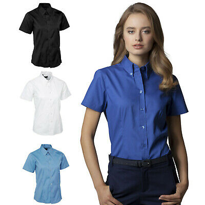 Ladies Short Sleeve Formal Oxford Shirt for BUSINESS OFFICE WORK & CASUAL SHIRTS