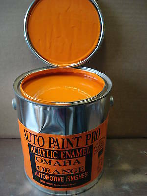 Omaha Orange acrylic enamel single stage restoration auto body car paint kit