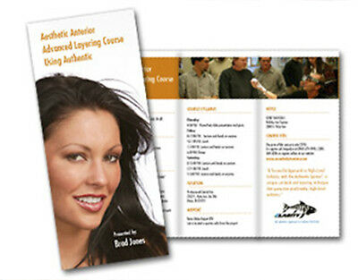1000 Tri-Fold Glossy Brochures REAL PRINTING not copies