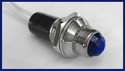 BLUE 12v pilot dash signal toggle INDICATOR LIGHT NEW!