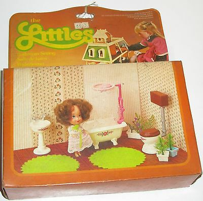 The Littles Bathroom Settings stanza da bagno Mattel anni 70 80