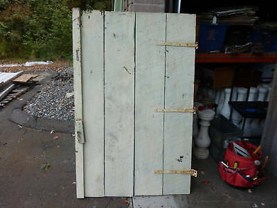 "c1950's carriage barn doors old hardware 63 x 36 & 49""w"