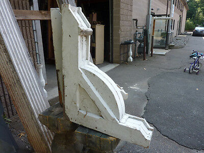 HUGE pr crackled white paint VICTORIAN gingerbread porch house corbels 30x24x5.5