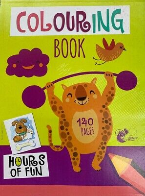 Colouring Book 140 Pages A4 Jumbo Children Kids Fun Learning Time Boys Or Girls