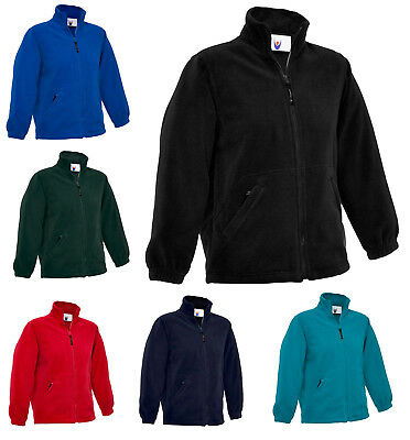Childrens Boys & Girls Full Zip Classic Fleece Jacket SPORT SCHOOL & LEISURE