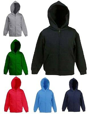 Children Boys & Girls Full Zip Hooded Sweatshirt Jacket Hoodie SPORT & CASUAL