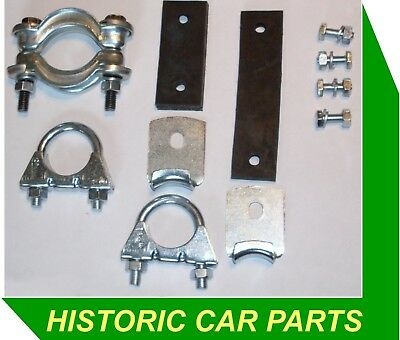 """EXHAUST MOUNTING KIT for Morris Minor 1000 1956-71 1¼"""" Clamps Hangers Straps"""