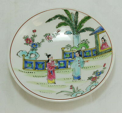 Old Chinese Egg Shell Porcelain Famille Rose Plate
