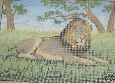 Lion Tapestry Needlepoint Canvas Collection D'Art