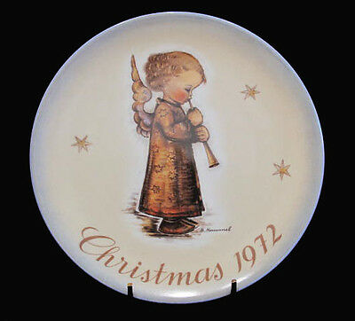 Schmid Collector's Hummel Christmas Angel With Flute Plate 1972