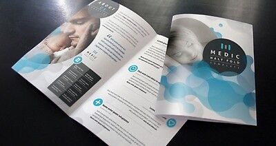 """5000 11"""" x 17"""" Two Sided Brochures folds to 8 1/2 x 11 REAL PRINTING not copies"""