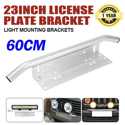 Number Plate Bullbar Frame Mounting Bracket Silver Light Bar Antenne UHF Holder