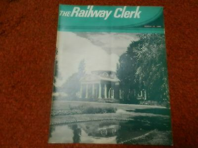 Railway Clerk Magazine March 15,1968 Cover Depicts Monticello