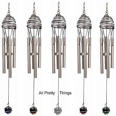 **6 TO CHOOSE FROM** WIND CHIMES--COLOURED BALL IRON  4 Wind Spinners IRON STOP