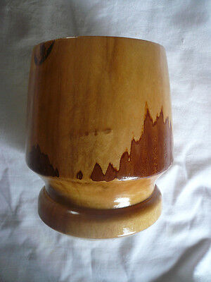 Beautiful Turned Lacquered Timber Bowl With Pedestal