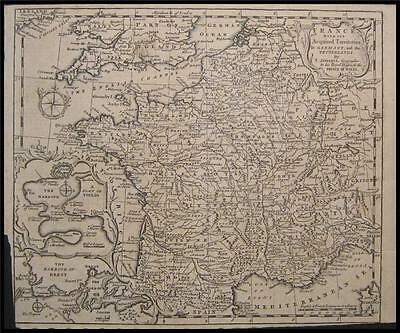 1747 Original T Jefferys Map France Germany Netherlands