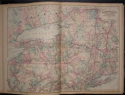 1872 ORIGINAL ASHER Adams Map New York Ontario Canada - $79.97 ...