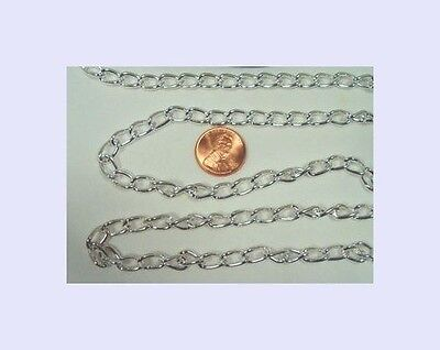 3 ft Silver plated 18mm 14mm rope bulk large round link necklace chain ch122